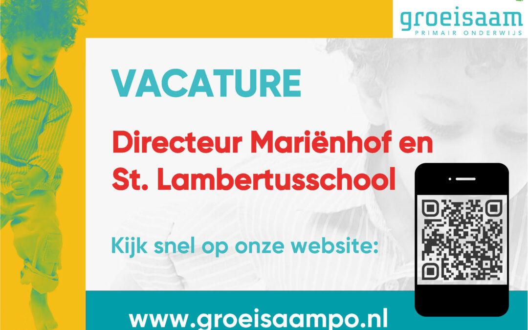 Vacature directeur St.Lambertusschool- Mariënhof